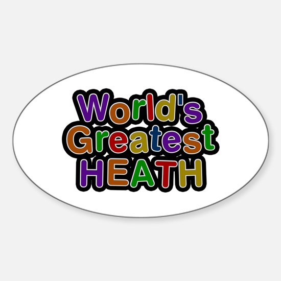 World's Greatest Heath Oval Decal