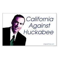 California Against Huckabee bumpersticker