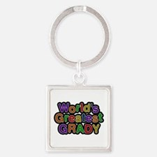 World's Greatest Grady Square Keychain