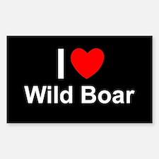Wild Boar Sticker (Rectangle)