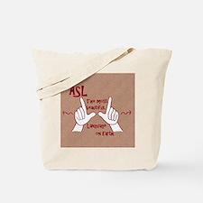 Unique American sign language Tote Bag
