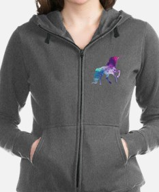 Unique Red purple Women's Zip Hoodie