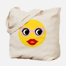 Cool A smiley face girl Tote Bag