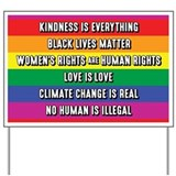 The simple truth black lives matter womens rights Yard Signs
