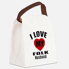 I love My Folk Husband Designs Canvas Lunch Bag