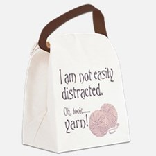 Distracted by yarn Pink Canvas Lunch Bag