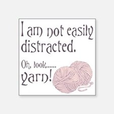 Distracted by yarn Pink Sticker