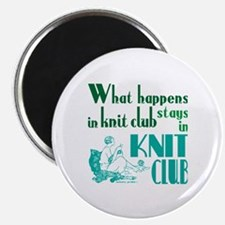 Knit club green retro Magnets