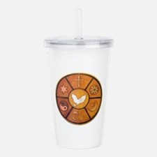 Interfaith Symbol - Acrylic Double-wall Tumbler