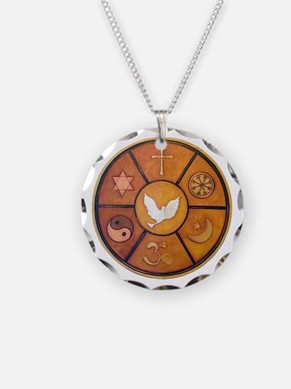 Interfaith Symbol - Necklace Circle Charm