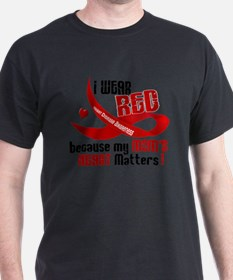 Red For My Mom Heart Disease Shir T-Shirt
