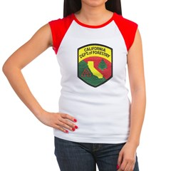 California Forestry Women's Cap Sleeve T-Shirt
