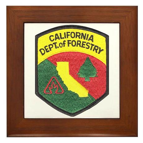 California Forestry Framed Tile