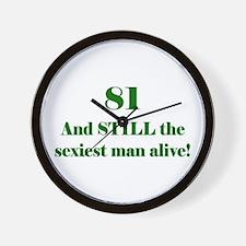 81 Still Sexiest 1C Green Wall Clock