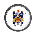 Waddell Coat of Arms Wall Clock