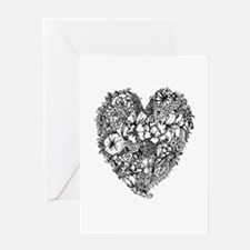 Heart of flowers Greeting Cards
