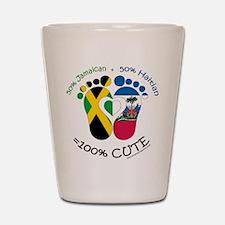 Jamaican Haitian Baby Shot Glass