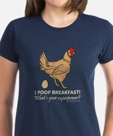 Chicken Poops Breakfast Funny Tee