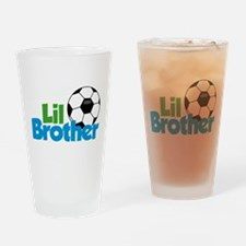 Soccer Little Brother Drinking Glass