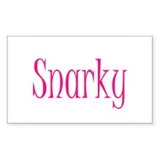 Feeling Snarky? Rectangle Decal