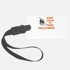 keep calm and happy halloween Luggage Tag