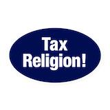 Tax churches Oval Car Magnets