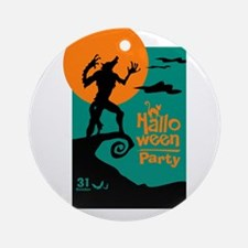 halloween party Round Ornament