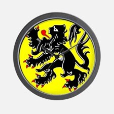Lion of Flanders Wall Clock