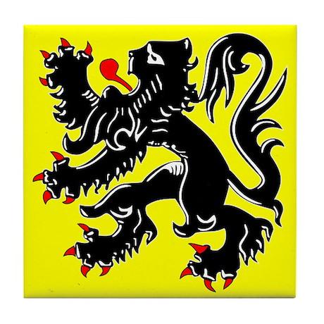 Lion of Flanders Tile Coaster
