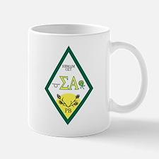 Sigma Alpha Crest Letters Mug