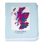 Map - Lumsden of Kintore baby blanket
