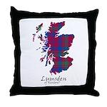 Map - Lumsden of Kintore Throw Pillow