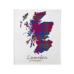 Map - Lumsden of Kintore Throw Blanket