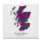 Map - Lumsden of Kintore Tile Coaster