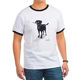 Big black dog Ringer T