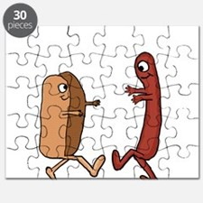 Hot Dog Bun and Wiener Couple Puzzle