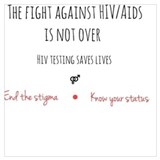 Aids ribbon Wrapped Canvas Art