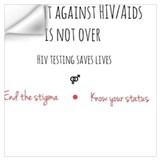 Aids ribbon Wall Decals