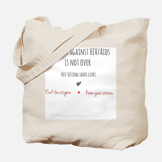 Cute Aids ribbon Tote Bag