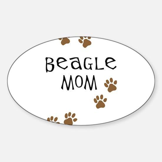 Beagle Mom Oval Decal