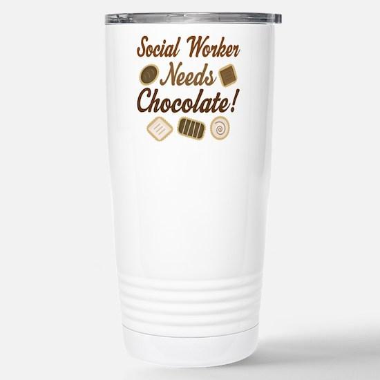 social worker Stainless Steel Travel Mug