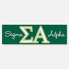 Sigma Alpha Logo Sticker (Bumper)