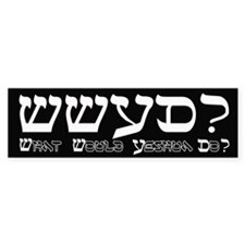 What Would Yeshua Do? Bumper Bumper Sticker