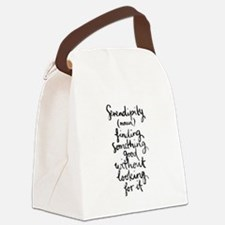 Serendipity Canvas Lunch Bag