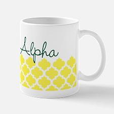 Sigma Alpha Pattern White Mug