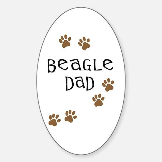 Beagle Dad Oval Decal