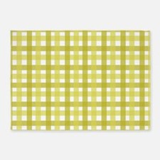 Yellow Picnic Cloth Pattern 5'x7'Area Rug