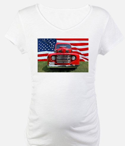 1948 Red Ford Truck USA Flag Shirt