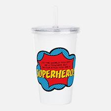 Superhero Acrylic Double-wall Tumbler