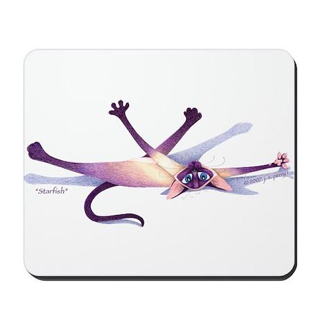 "J. S. Perry Siamese Cat ""STARFISH"" Mousepad"